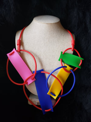 Rainbow Ensnare Necklace - Samuel Coraux