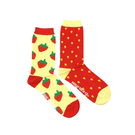 Unisex Inside Out Strawberry Socks