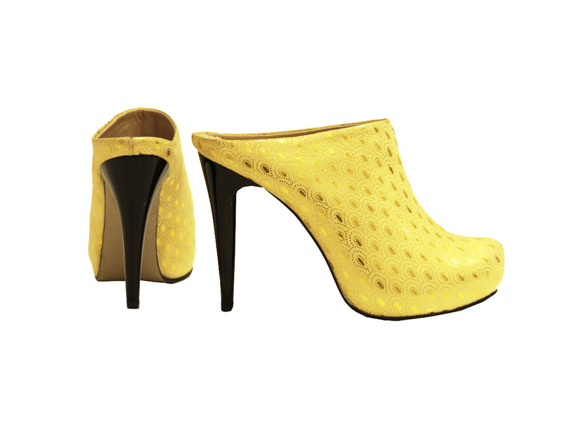 Yellow and Gold - Clogs Stiletto
