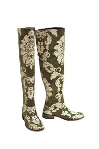 Mystic Green Riding Boot