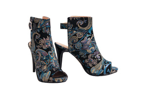 Blue Dream Italian Silk Leather - ANK Stiletto