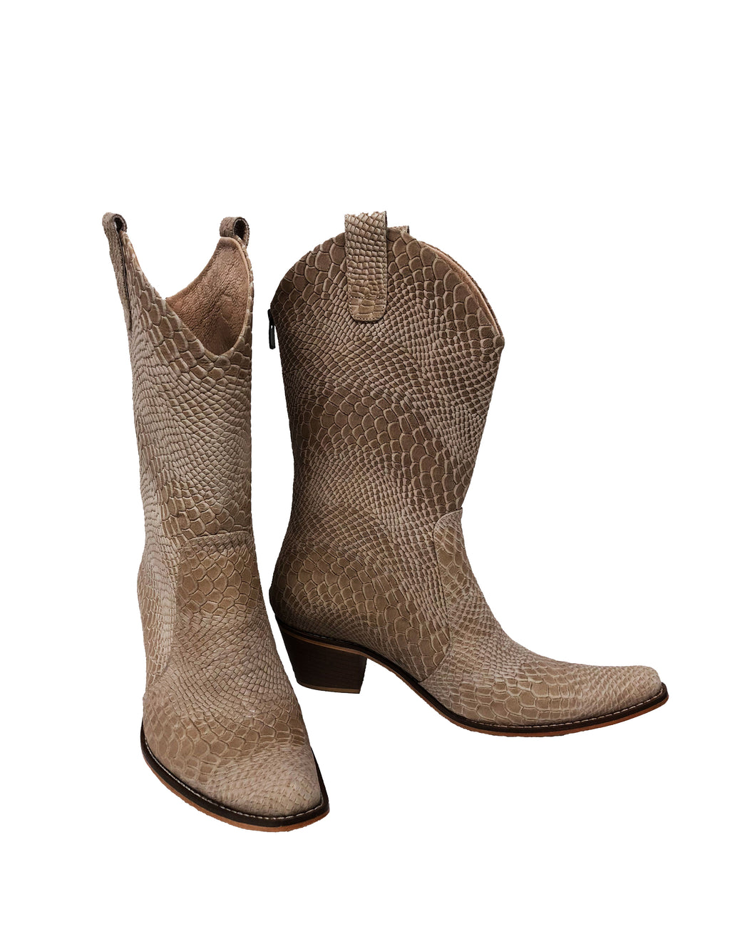 Nude Python Leather - Pull On Cowboys