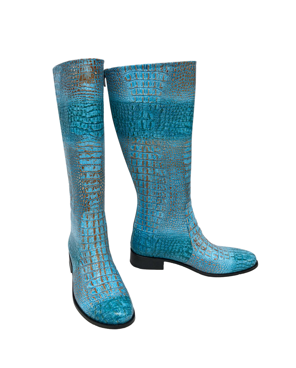 Turquoise Python Leather - Riding