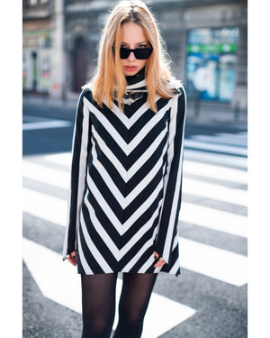 Scarlet Chevron Mod Dress
