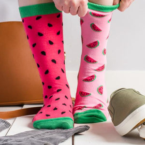 Unisex Inside Out Watermelon Socks