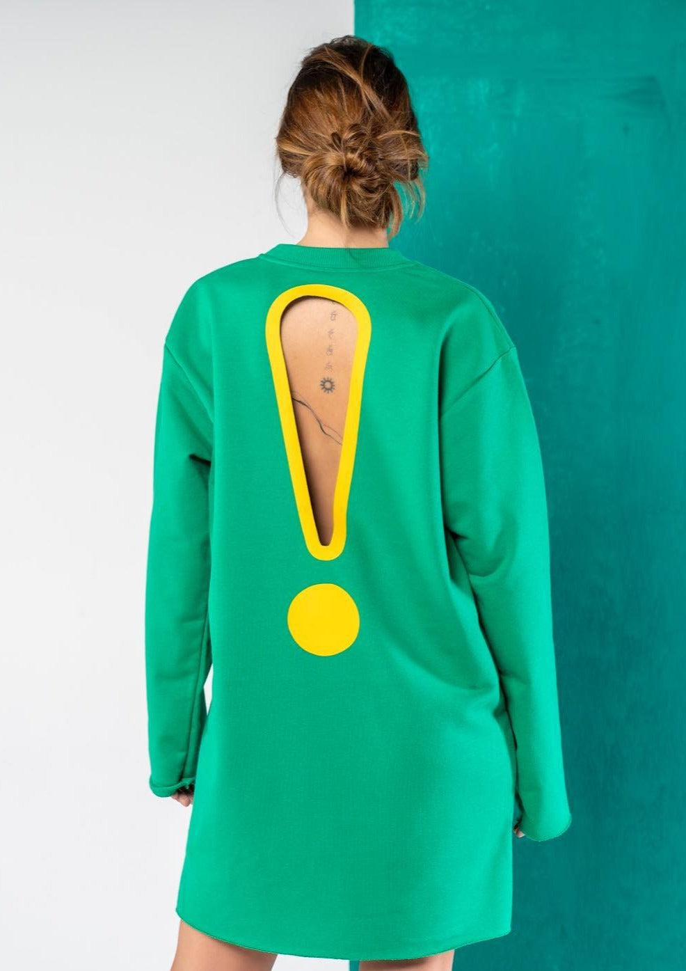 Wholly Wear Exclamation Sweater Dress