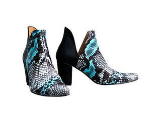 Python Leather/Suede Ankle Boot - Cuban