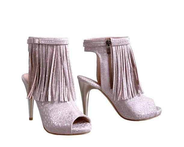 Dream Pink Fringe - Ankle Stiletto