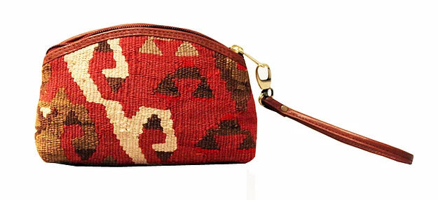 One of a Kind Kilim Wristlet Clutch