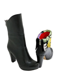 One of a Kind Suzani Snap Boot - Chunky Heel