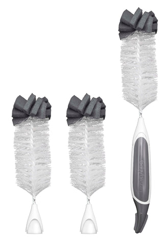 Baby Brezza Wire Bottle Cleaning Brush Handle & 3 Heads