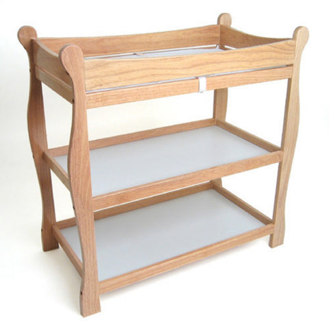 Badger Basket Sleigh Style Changing Table, Natural