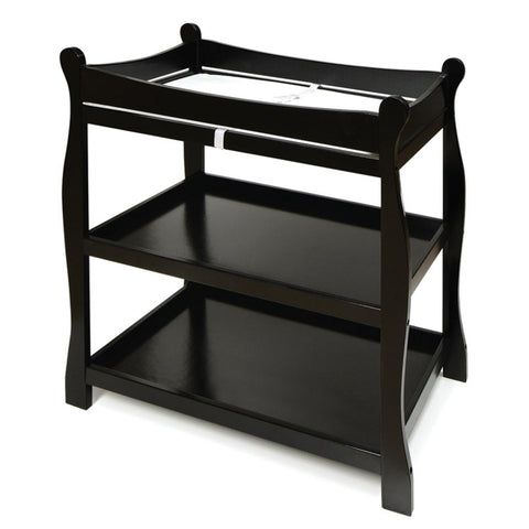 Badger Basket - Sleigh Style Changing Table, Black