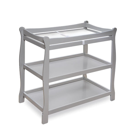 Badger Basket Sleigh Style Baby Changing Table, Gray