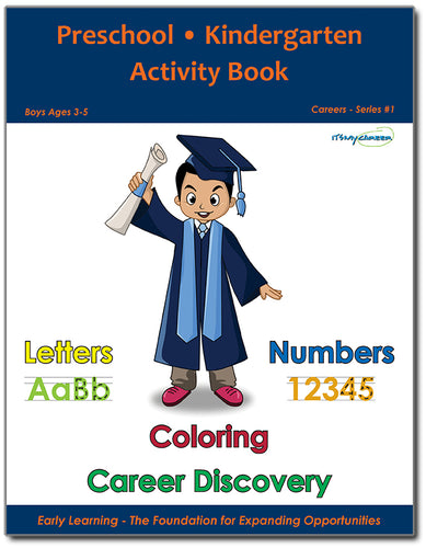 Preschool/Kindergarten Activity Book - Boys