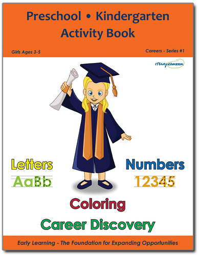 Preschool/Kindergarten Activity Book - Girls