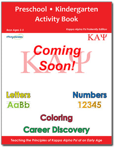 Preschool/Kindergarten Activity Book - Kappa Alpha Psi