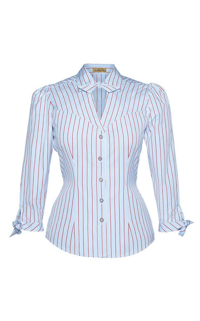 5 O' clock Blouse stripes Lena Hoschek - Si Belle Zürich