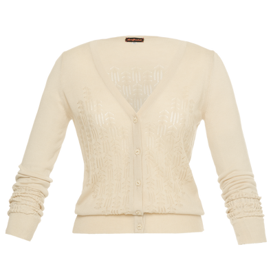 Tropical Strickjacke  beige