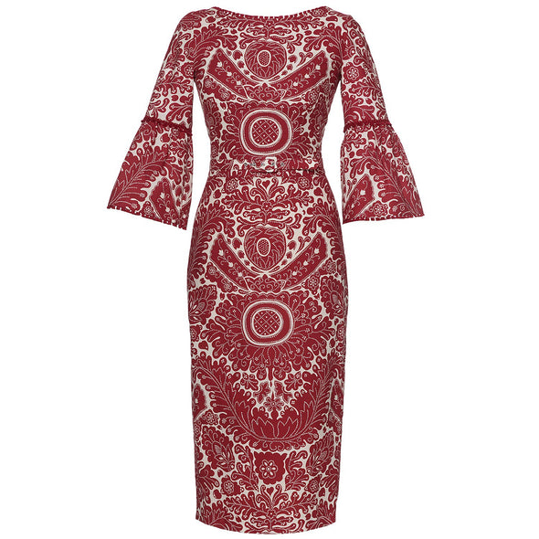KATINKA DRESS BOHO RED