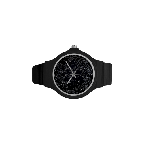 Northern Hemisphere Constellation Map Black Plastic Watch - Watch