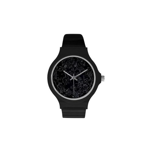 Northern Hemisphere Constellation Map Black Plastic Watch - Black - Watch