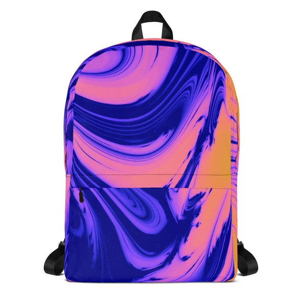 Bright Berry Blur Trippy Backpack - Multicolor - Backpack