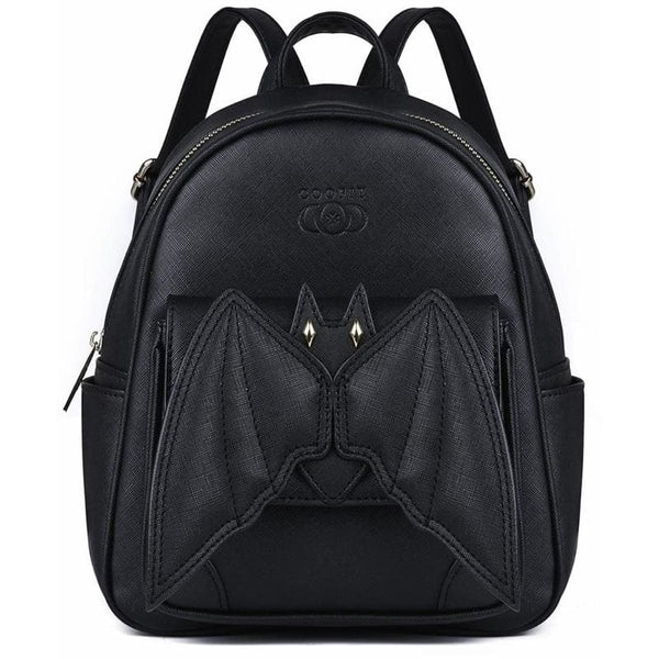 Creepy Cute 3D Bat Gothic Mini Backpack - Black - Backpack