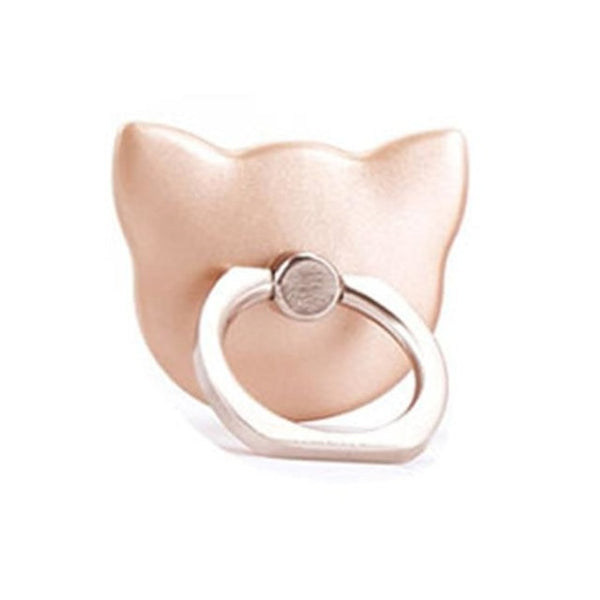 cute cat silhouette phone ring holder - Rose Gold - Phone Stand