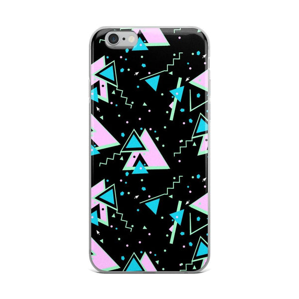 dark memphis vaporwave aesthetic phone case (iPhone) - Black / iPhone 6 Plus/6s Plus - iPhone Case