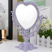 pastel goth ornate heart-shaped standing vanity mirror