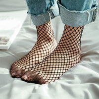Fishnet Mesh Ankle Socks - Socks