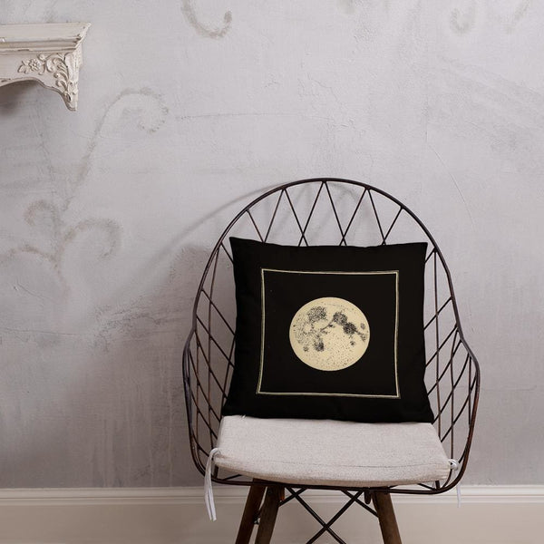 Full Moon / New Moon - Square Throw Pillow - Pillow