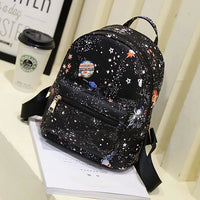 galaxy print faux leather mini backpack - Backpack