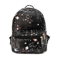 galaxy print faux leather mini backpack - Black - Backpack