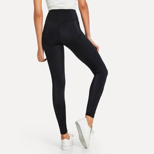 high waist side pocket leggings - Leggings