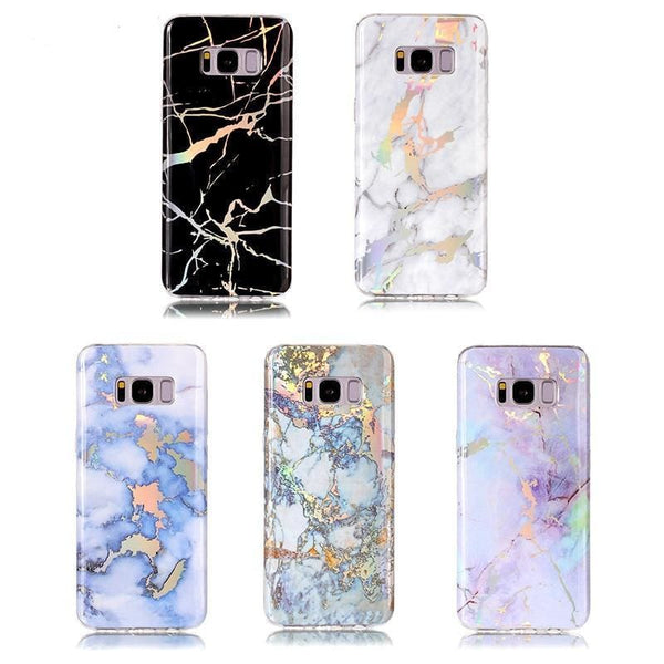 Holographic Marble Soft Silicone Phone Case (Samsung) - Samsung Case