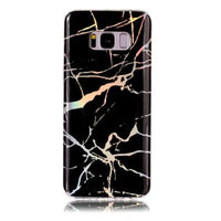 Holographic Marble Soft Silicone Phone Case (Samsung) - Black / For S6 - Samsung Case