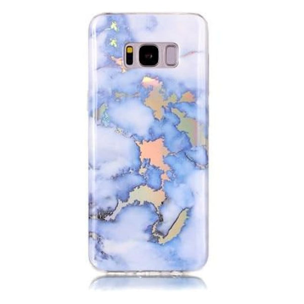 Holographic Marble Soft Silicone Phone Case (Samsung) - Blue / For S6 - Samsung Case