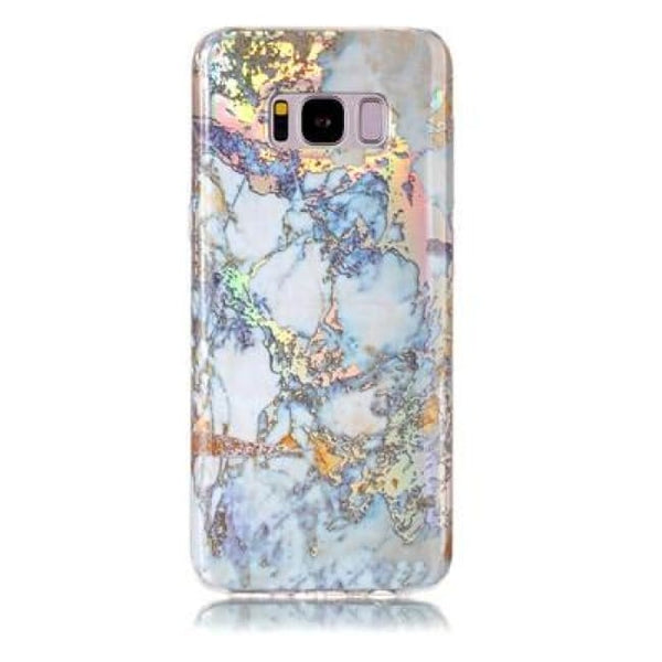 Holographic Marble Soft Silicone Phone Case (Samsung) - Gold / For S6 - Samsung Case