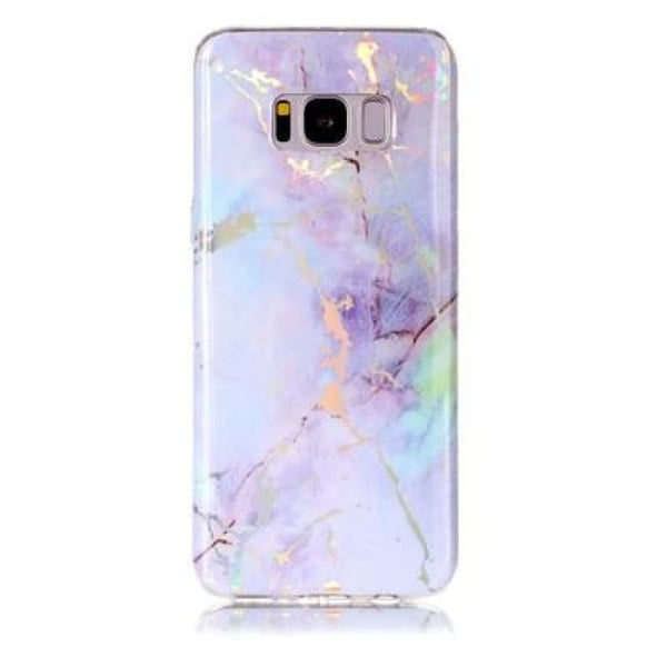 Holographic Marble Soft Silicone Phone Case (Samsung) - Purple / For S6 - Samsung Case