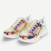 holographic mesh panel sporty sneakers - Womens Sneakers