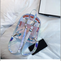 holographic transparent mini backpack - Backpack