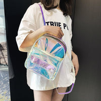 holographic transparent mini backpack - Holographic / Large - Backpack