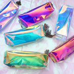 holographic transparent zip makeup bag - Zip Bag
