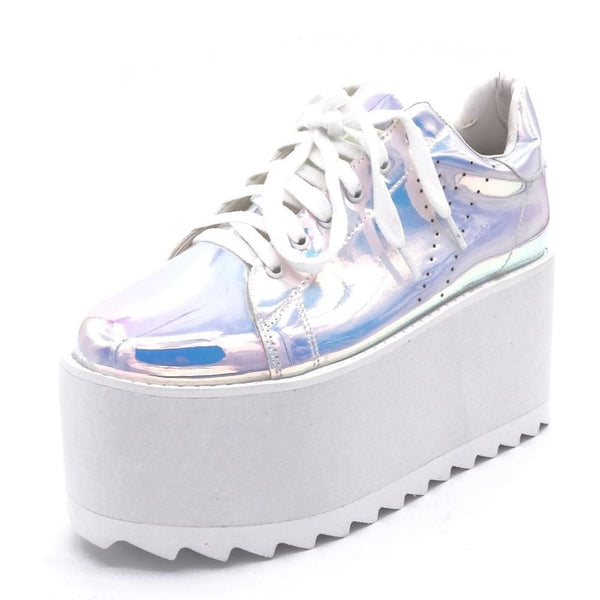 Holographic Ultra Platform Creeper Sneakers - Sneakers