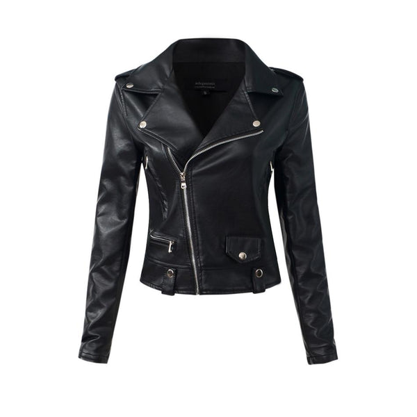 lightweight faux leather moto jacket - Black / XS - Jacket