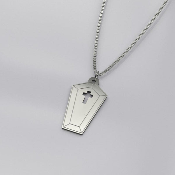 Little Coffin Sterling Silver Necklace - Sterling Silver - Necklace