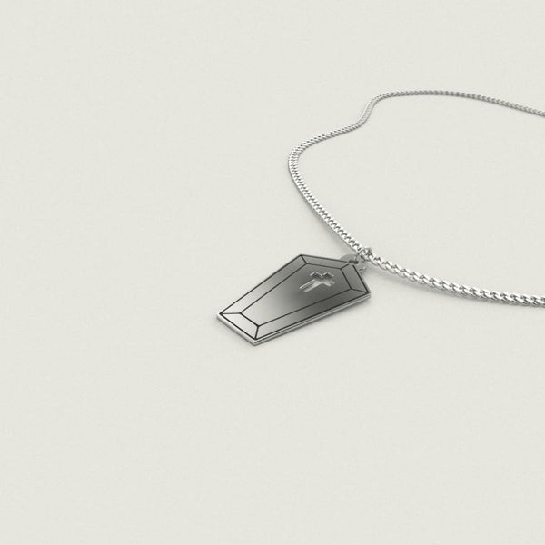 Little Coffin Sterling Silver Necklace - Necklace