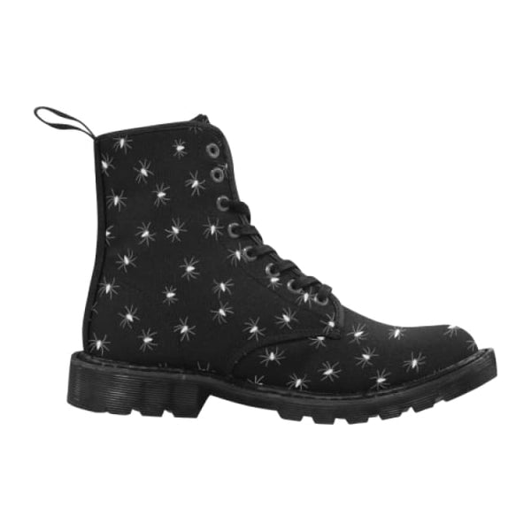 Little Spiders Womens Lace-Up Combat Boots - Black / 6.5 - Boots